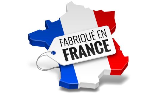 Plaque d'immatriculation produit en 100 %  en France métropolitaine